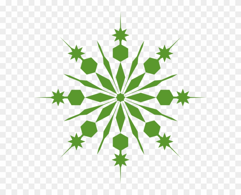 Green Snowflake Clipart - Snow Flakes .png .png #14618