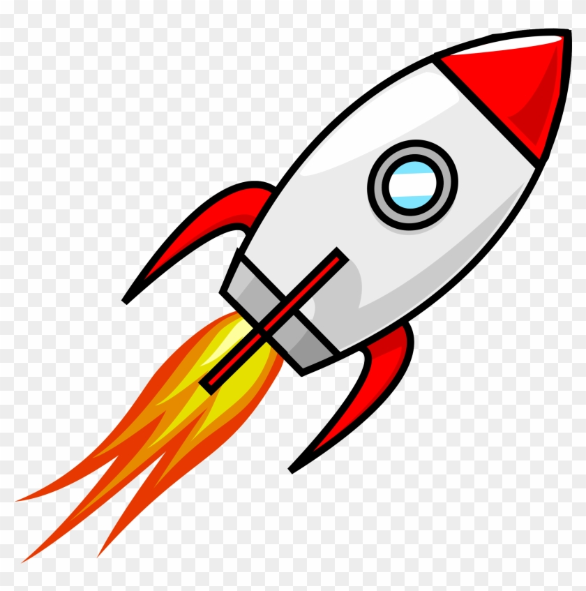 Clipart Of Rocket Cartoon Moon Remix - Cartoon Rocket Ship #14626