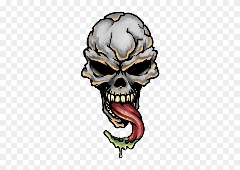 Skull Tattoo Png Transparent Images - Demon Skull Tattoo Designs #14646