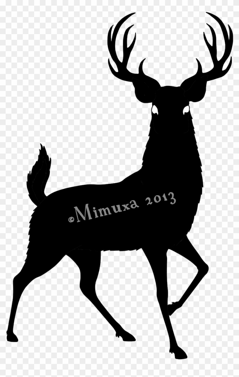 Deer Silhouette By Mimuxa On Deviantart - Deer Silhouette #14657