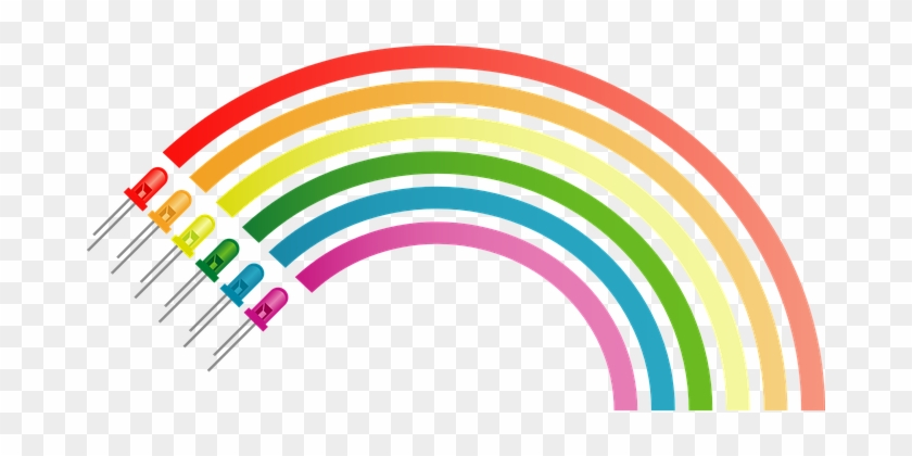 Rainbow Colors Electronic Diodes Electroni - สี รุ้ง มี สี อะไร บ้าง #14666