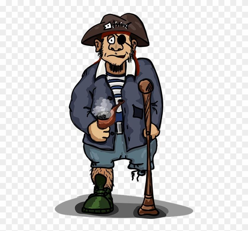 Pirate One Eyed One Legged The Three Corne - Pirate #14668