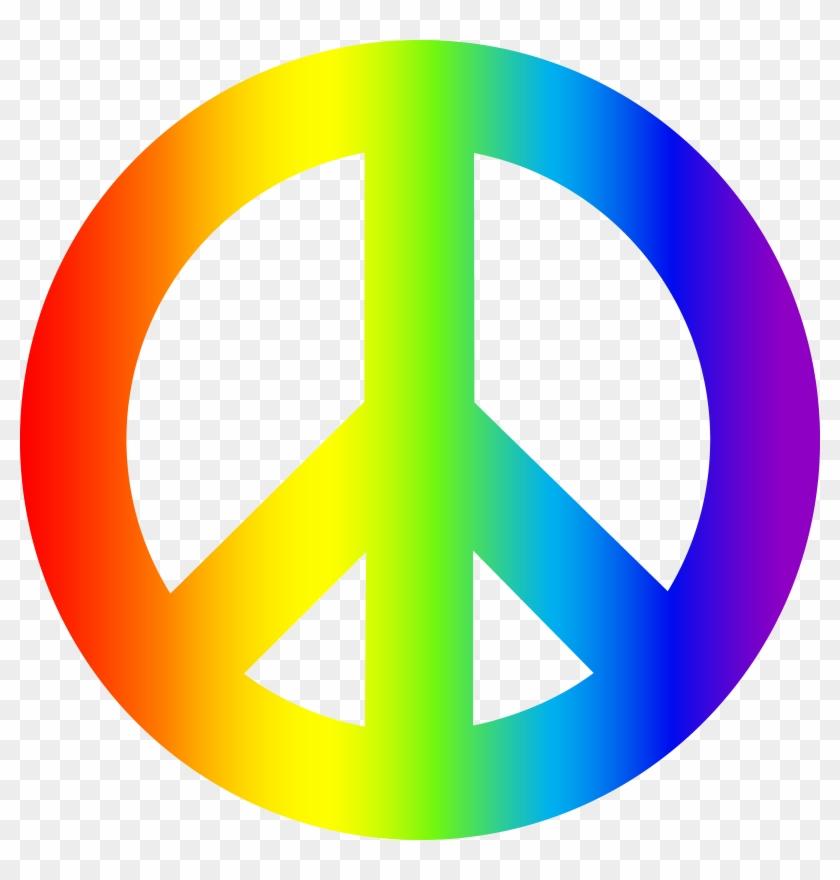 Peace Sign Rainbow Clipart - Peace Sign Rainbow Clipart #14698
