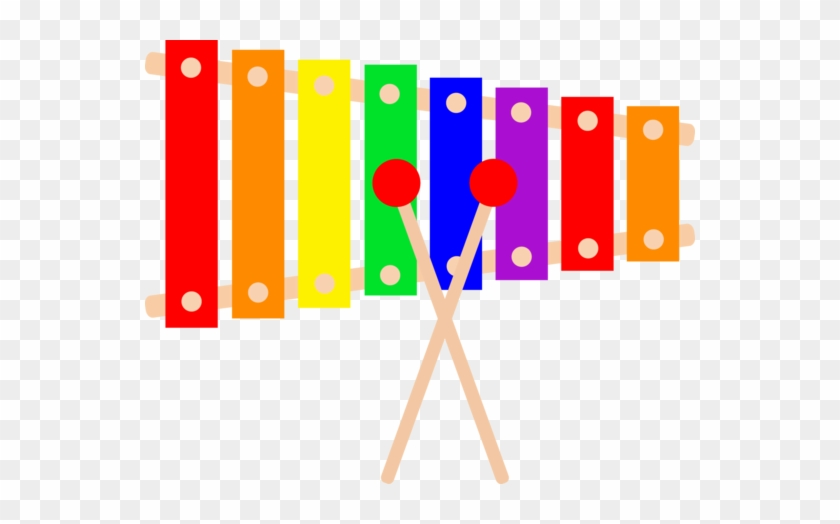 My Free Clip Art Of A Colorful Xylophone Musical Instrument - Xylophone Clipart #14682