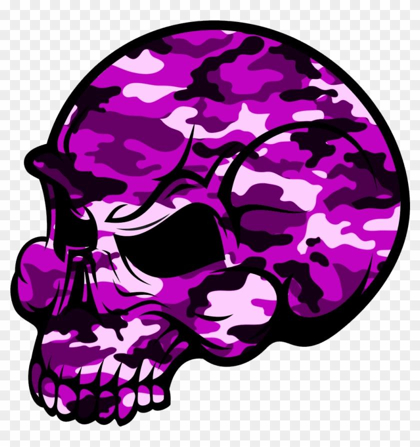 Skull Pink Camouflage Image - Pink Skull Png #14787