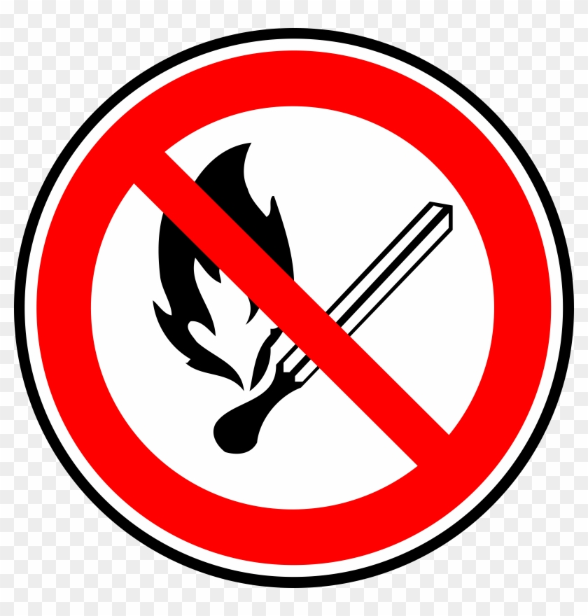 Match Clipart On Fire - Dont Play With Fire Sign #14788