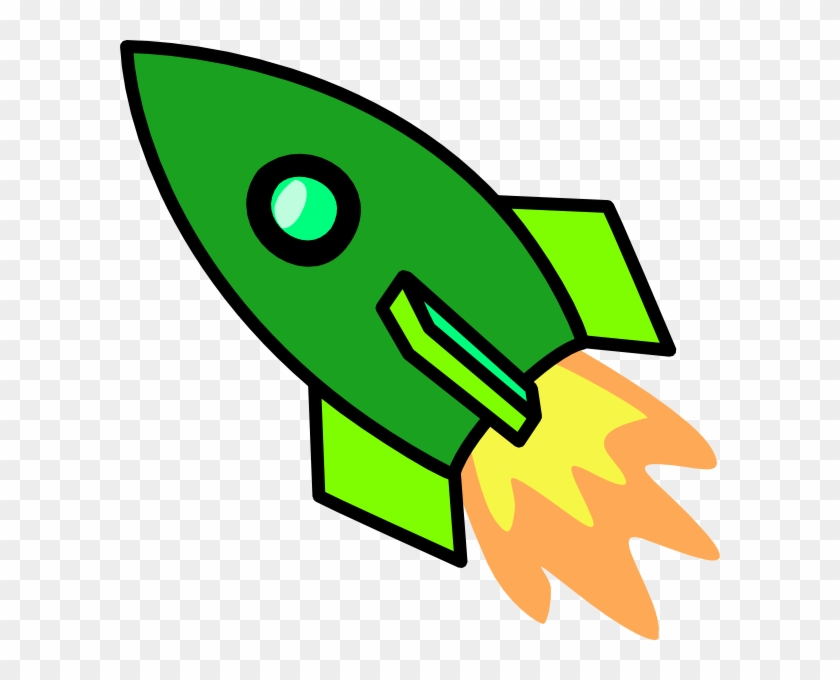 Green Rocket Clip Art - Rocket Ship Cut Out #14803