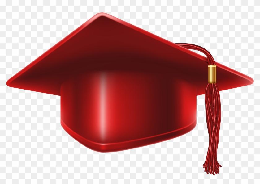 Red Graduation Cap Clip Art Image - Red Graduation Cap Png #14871