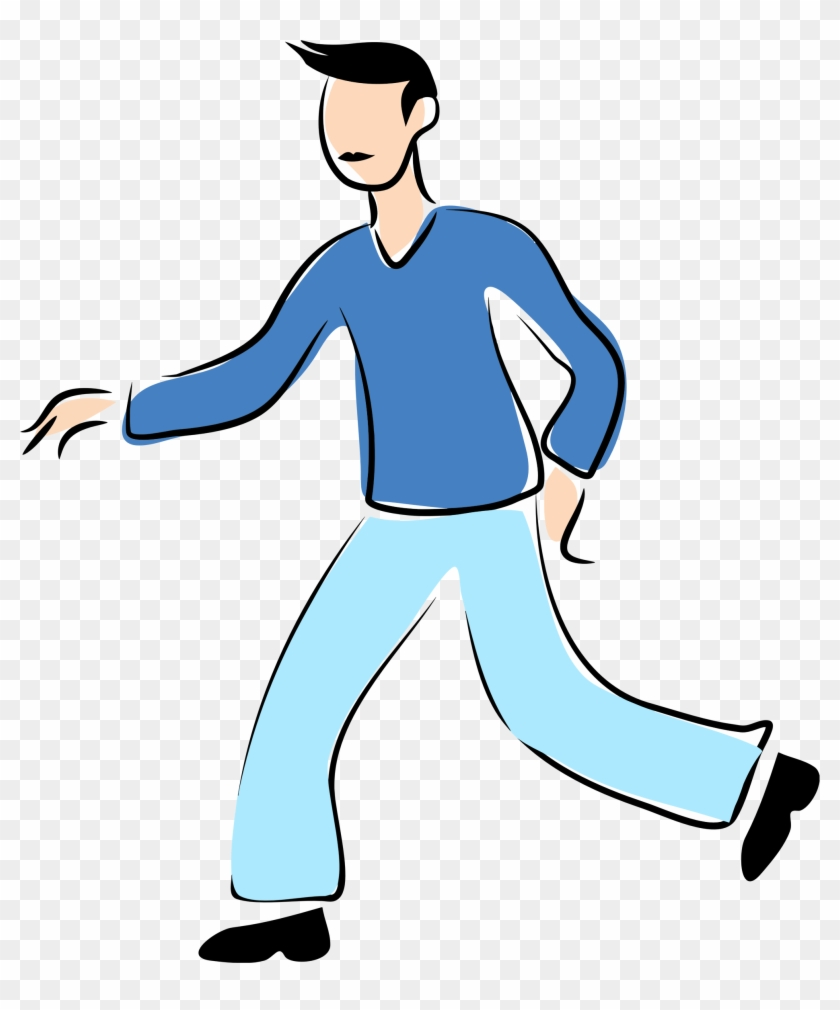 More From My Site - Man Walking Clipart #14867