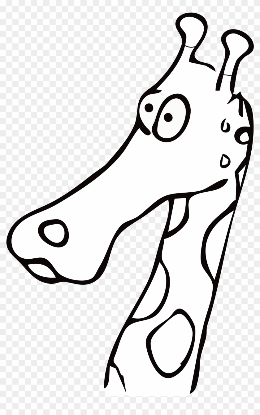 Bonfire - Giraffe Head Black And White Drawings #14875