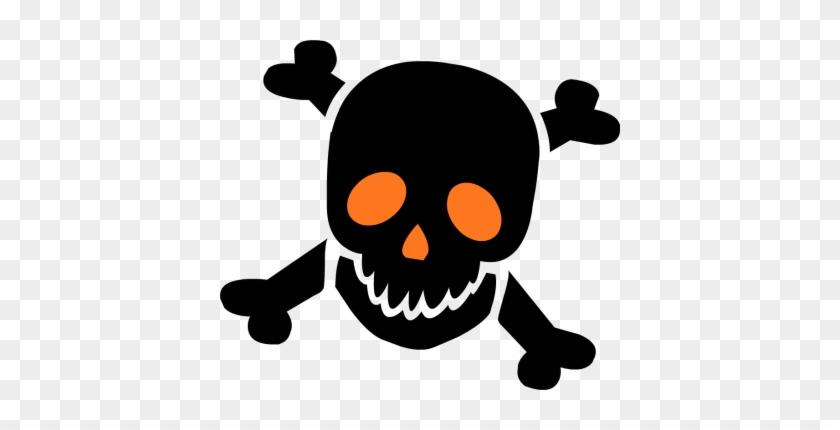 Skull Clip Art - Skull And Crossbones Halloween #14944