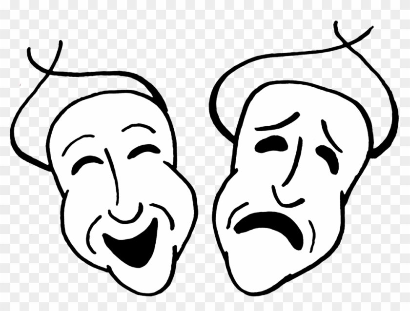 Comedy And Tragedy - Tragedy Mask Clip Art #15040