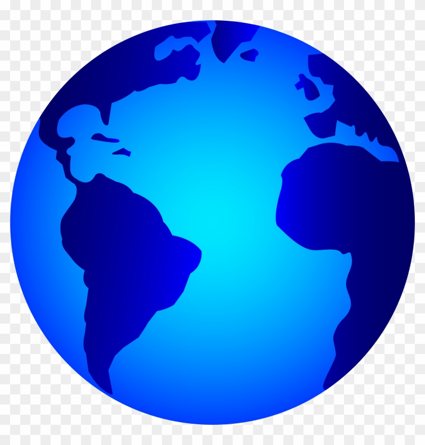World Clip Art - Earth Black And White Png #15079