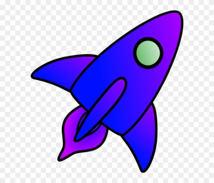 Astronaut Rocket Clipart Page 2 Pics About Space - Blue Rocket Clipart #15068
