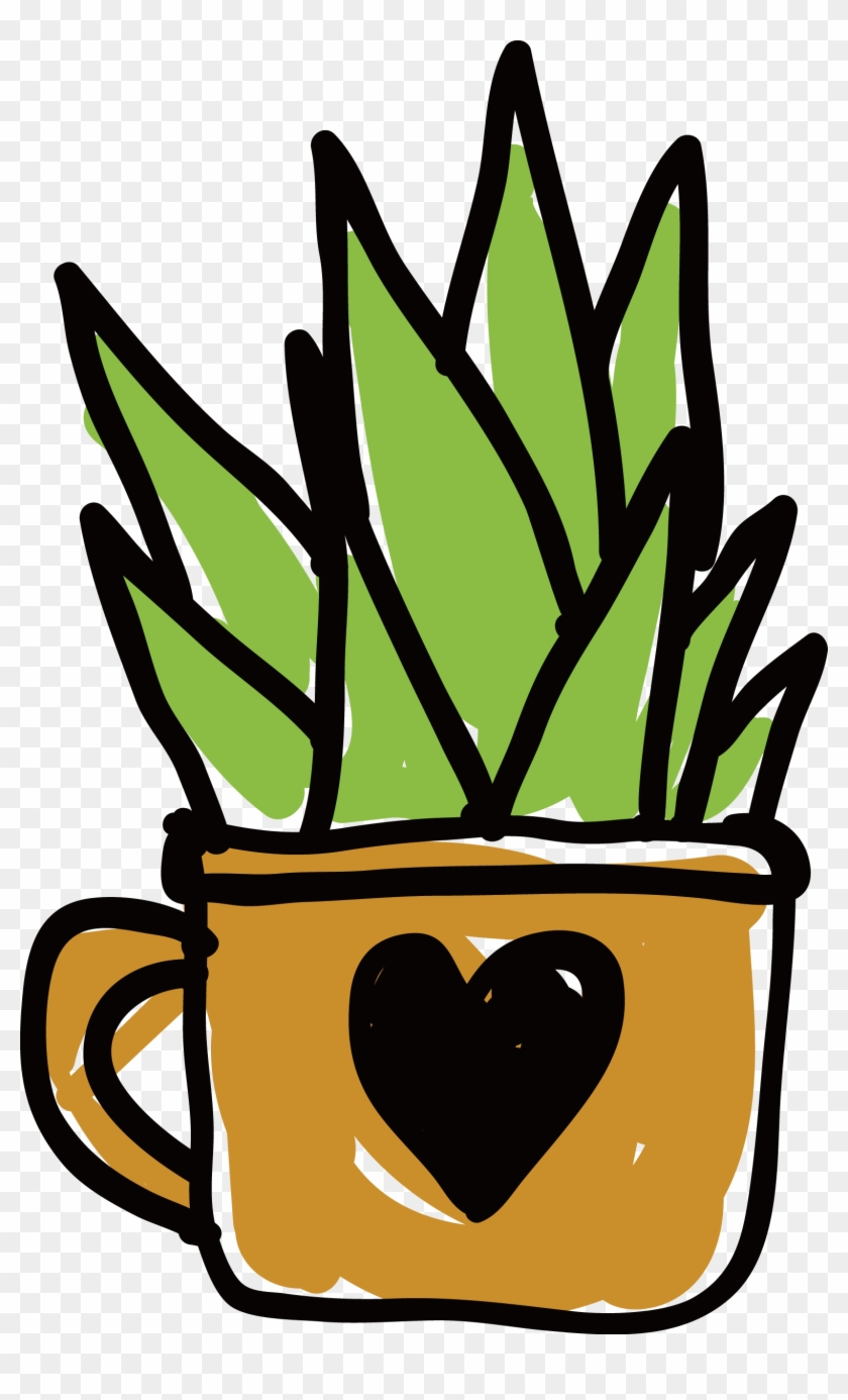Customized Love Water Cup Planted Cactus - Cactus #15147
