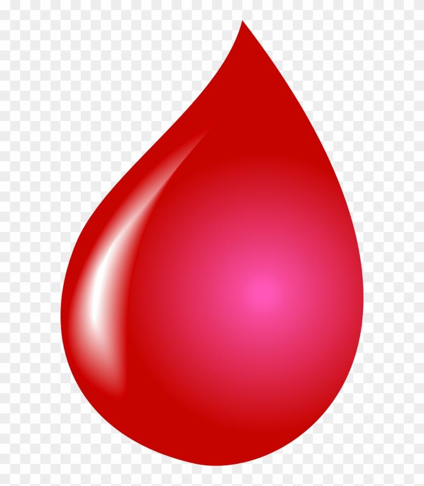 Vector Clip Art - Water Drop In Red Color #15167