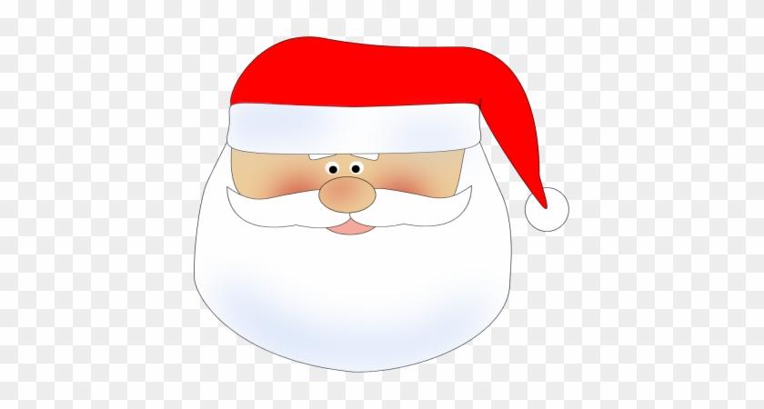 Santa Head Clip Art Image - Santa's Sleigh And Reindeer #15170
