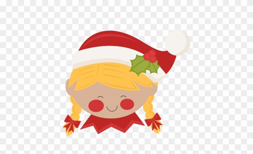 Christmas Elf Girl Svg Scrapbook Cut File Cute Clipart - Cute Elves Clip Art #15202