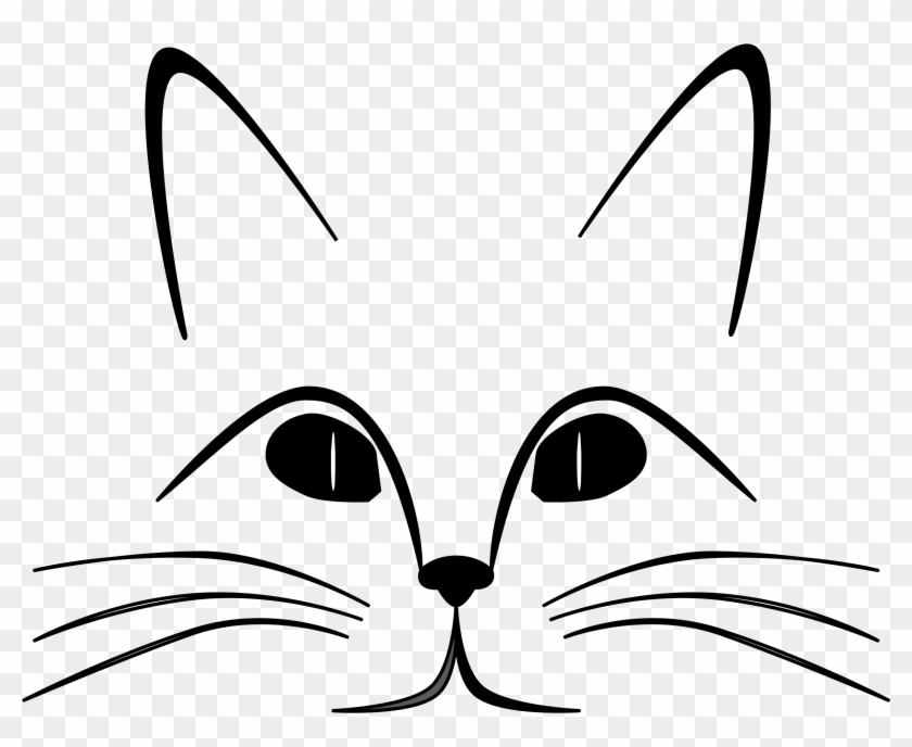 Cat Face Outline Clip Art - Cat And Heart Shower Curtain #15265