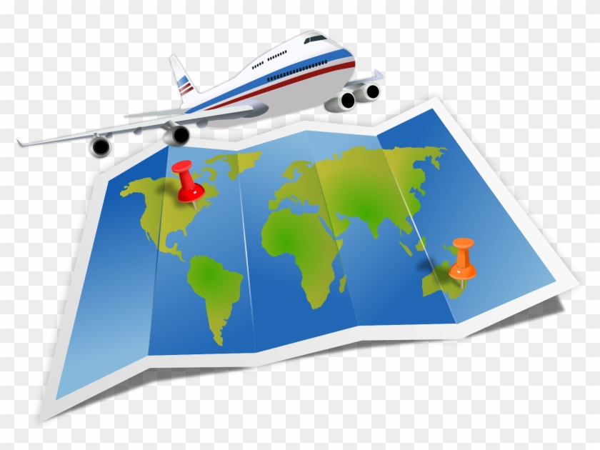 Open - Travel Around The World Clipart #15268
