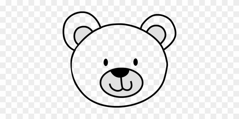 Simple Black And White Bear Pictures Bear Clip Cliparts - Teddy Bear Face Drawing #15297