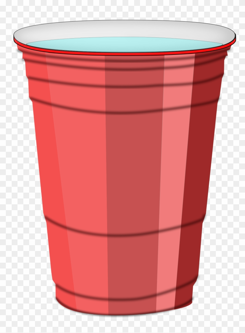 Clipart Clever Cup Of Water Clipart Plastic With Big - Plastic Red Cup Png #15358