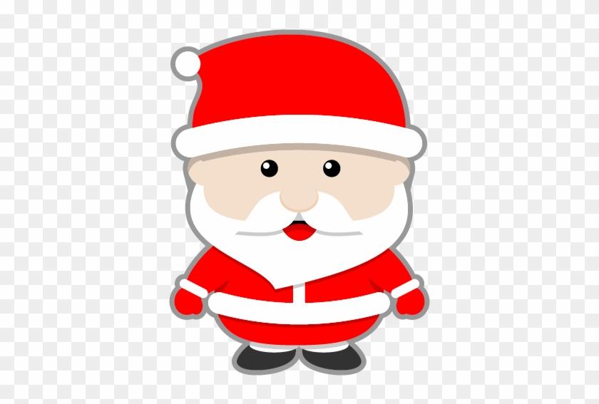 This Cute Santa Claus Clip Art Done In Kawaii-style - Cute Santa Claus Cartoon #15380