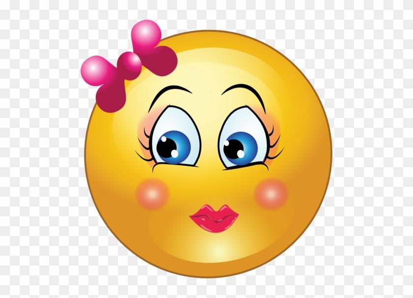 Pretty Girl Smiley Face Clipart - Pretty Clip Art #15457