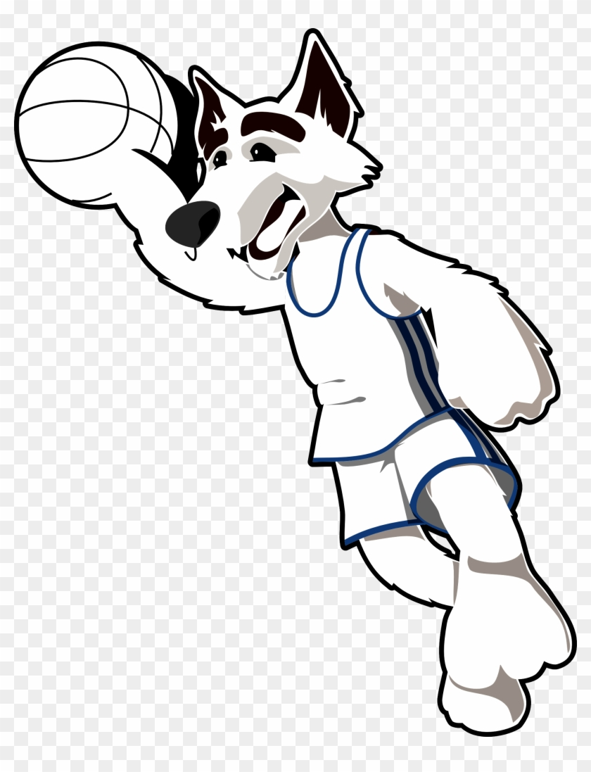 Wolf Clipart Black And White Clipart Panda Free - Clip Art Black And White Basketball #15468