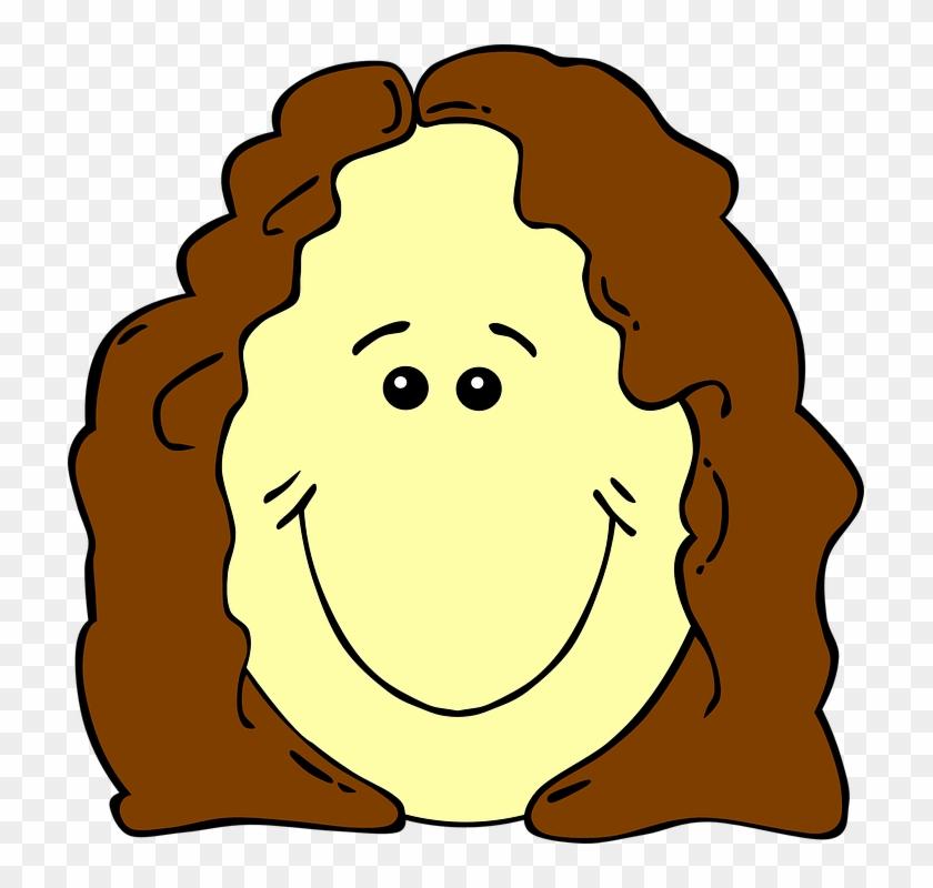 Face Clip Art - Girl Smiley Face Clipart #15529