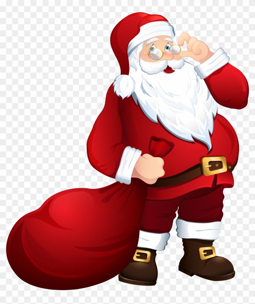 Santa Claus With Bag Png Clipart Image - Santa Claus Png #15560