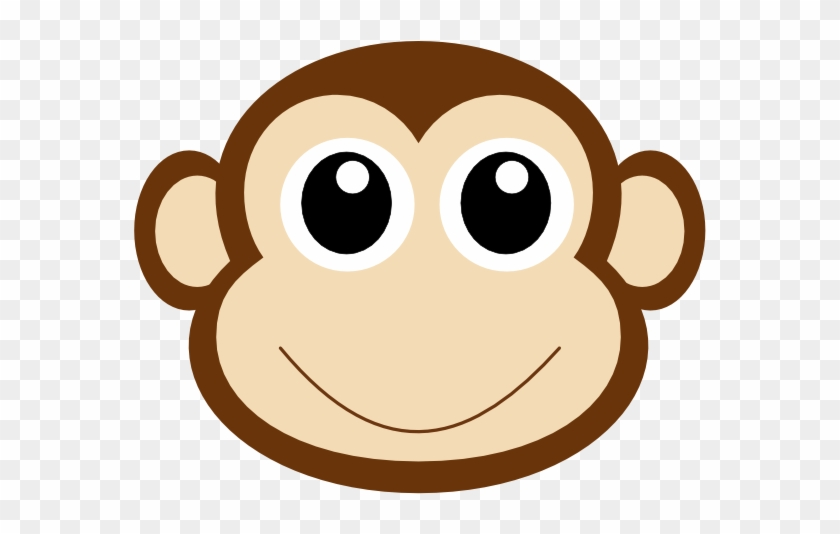Monkey Face Clipart Monkey 1 Clip Art At Clker Vector - Cute Monkey Face Clipart #15580