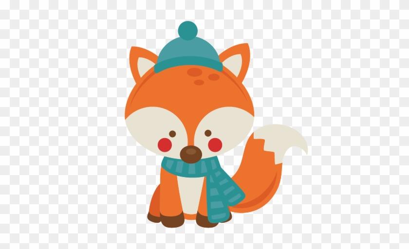 Winter Fox Clipart - Miss Kate Cuttables Winter #15604
