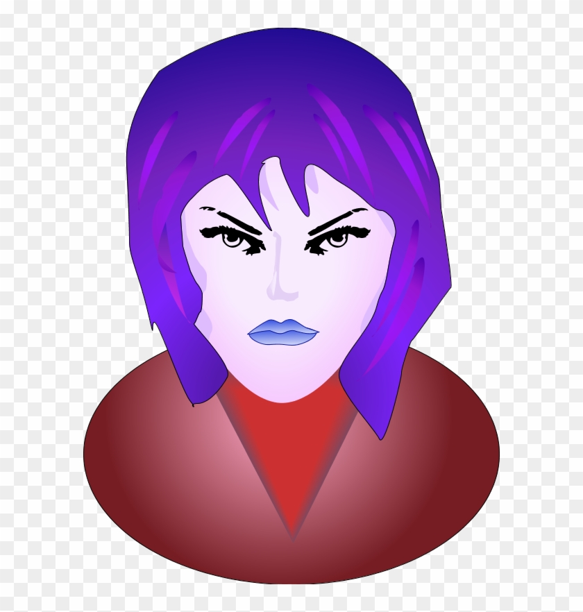 Mad Face Woman Angry Face Vector Clip Art - Smiley Femme Fatale Face 1 25 Magnet Emoticon #15646