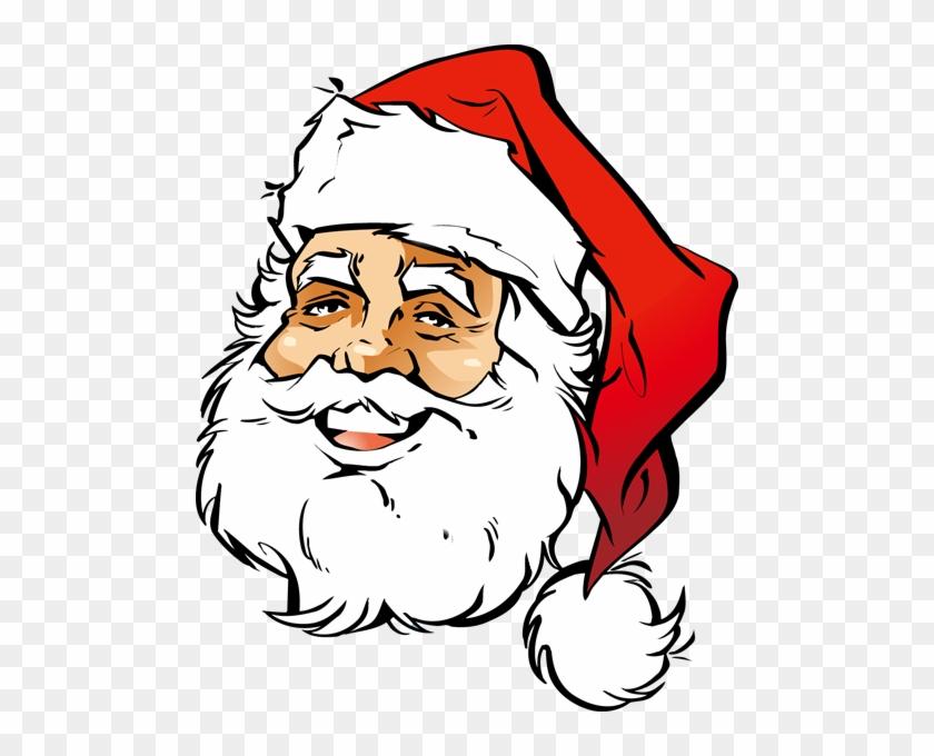 Santa Smiley Face Clip Art - Santa Claus Face Png #15655