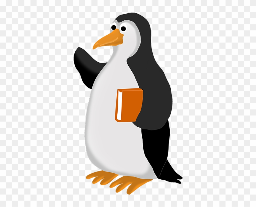 Penguin Clip Art - Penguin Reading Clip Art #15780