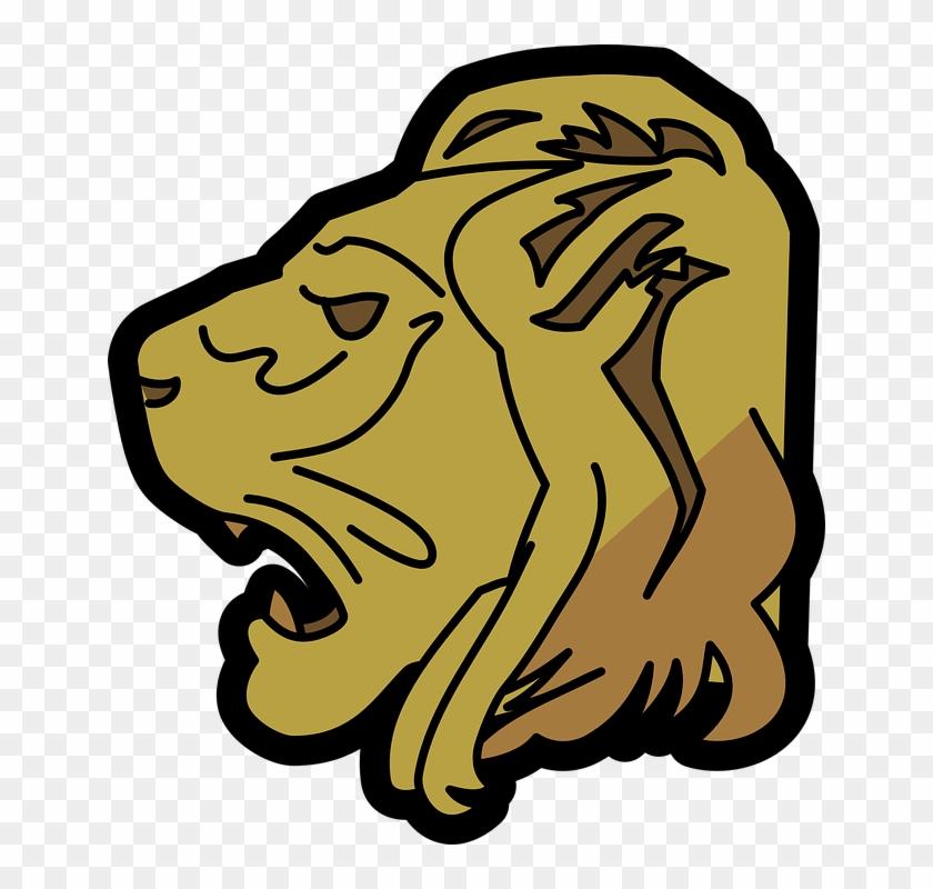 Lion Head Clip Art - Lion Head Clip Art #15819