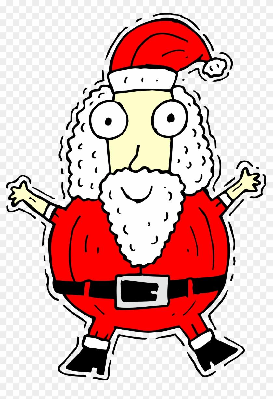 Santa Claus 02 Clipart, Vector Clip Art Online, Royalty - Funny Santa Claus In Drawing #15847