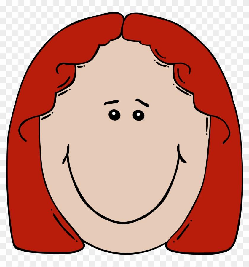 Big Image - Sad Girl Face Cartoon #15890