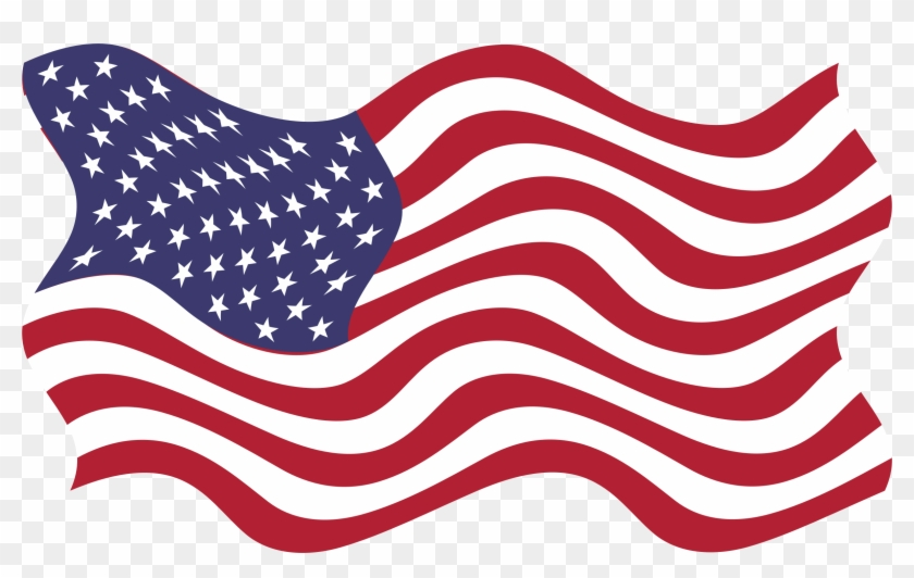 Wind Clipart Breezy - American Flag Vector Clipart Png #16047