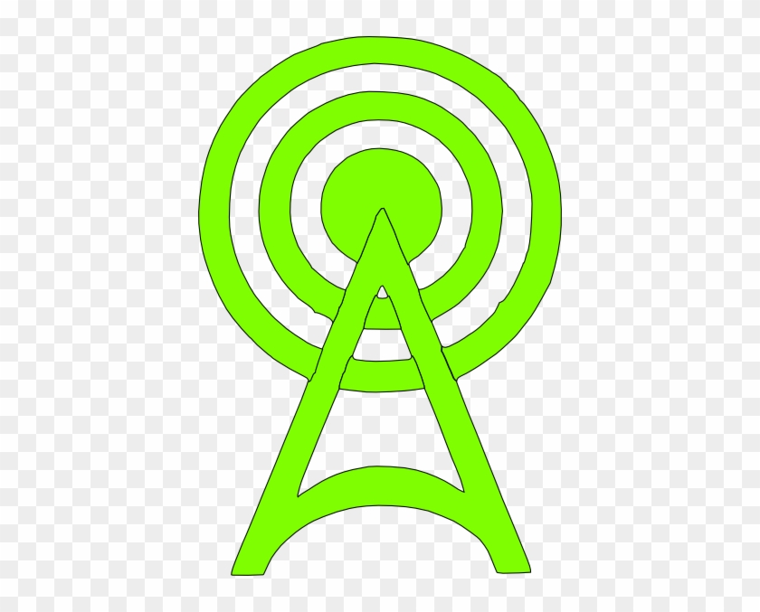 Green Radio Tower Icon - Cell Tower Icon Green #16061