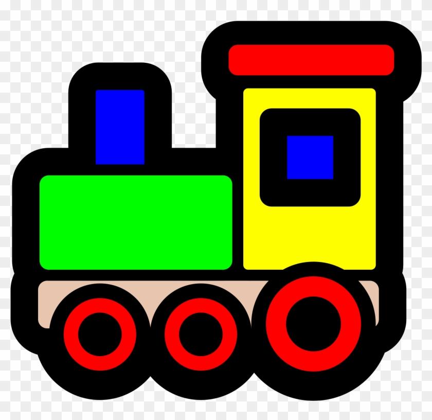 Big Image - Toy Train Clip Art #16105