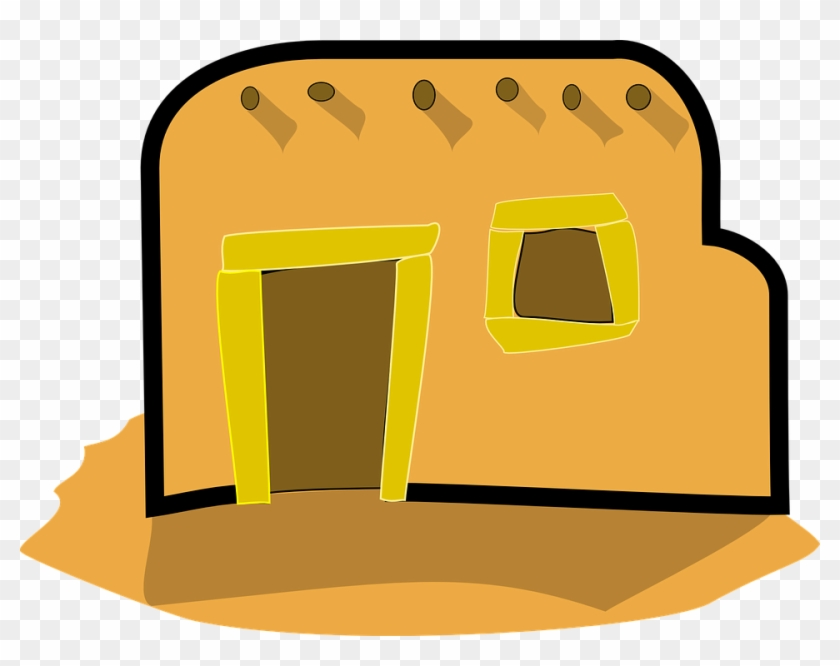 Free Vector Homes Clipart Clip Art - Old Mud House Clipart #16118