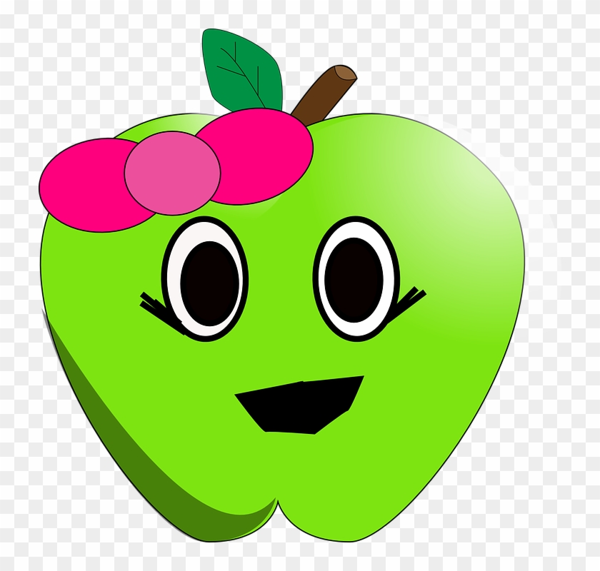 Clip Arts Related To - Cute Apple Clipart #16136