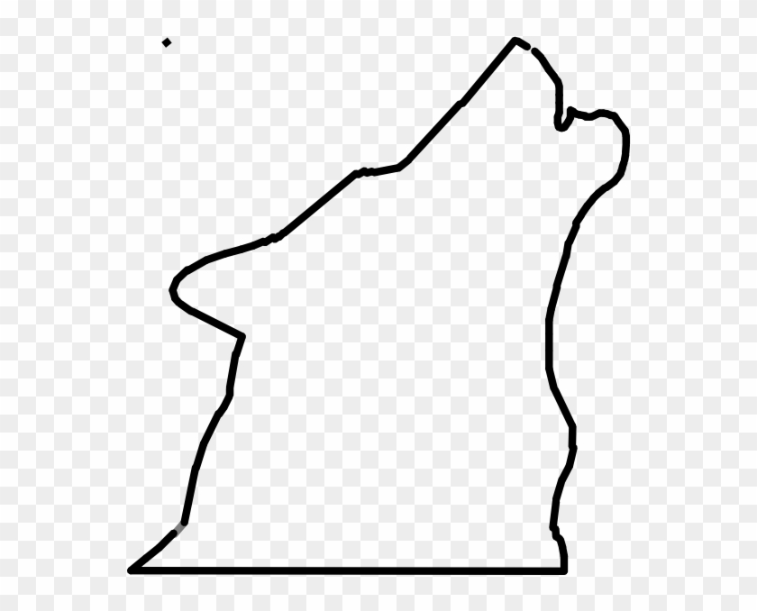 Outline Of A Wolf Howling Clipart - Howling Wolf Head Outline #16151