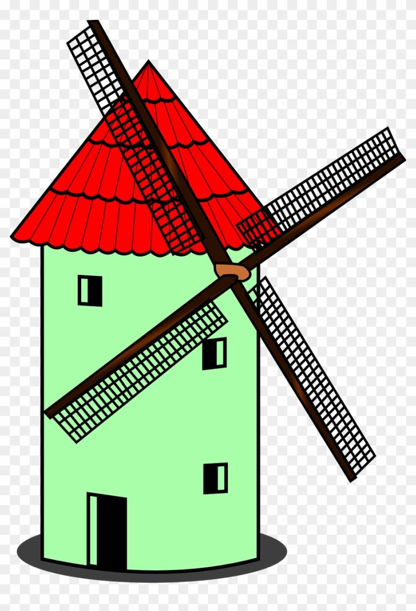 Windmill Dutch Netherlands Wind Energy - Windmill Clipart #16179
