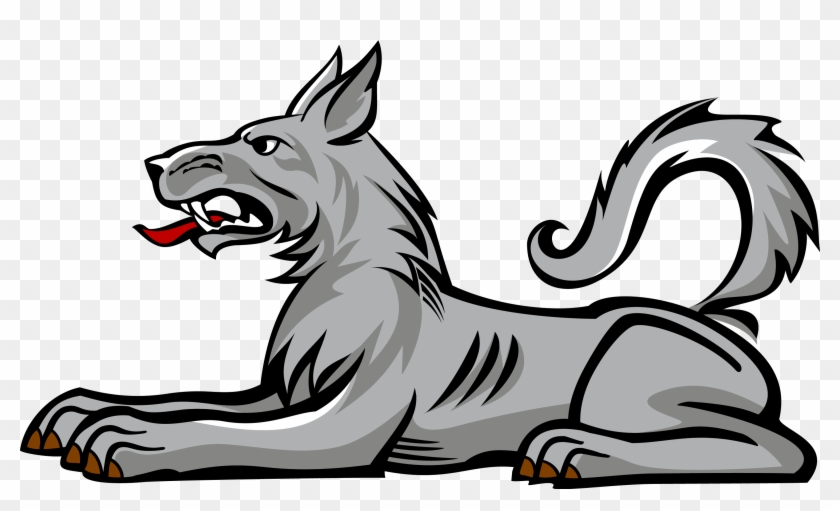 Heraldic Animals Clipart Wolf Pencil And In Color - Code Of Arms Wolf #16198