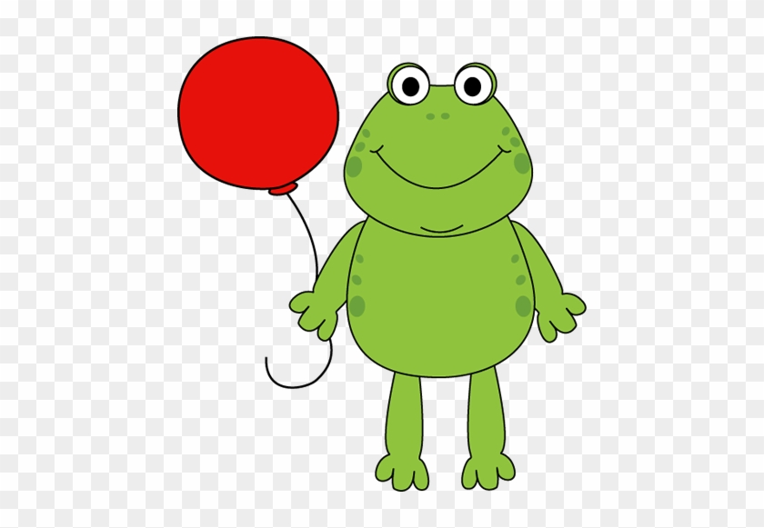 Clipart Info - Frog Holding A Balloon #16204