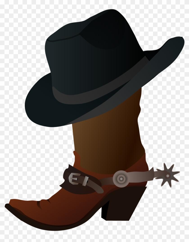 Free Cowboy Clipart Cowboy Images Clip Art Free Cowboy - Cowboy Boot And Hat #16227