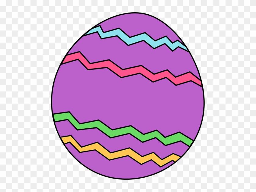 Purple Zig Zag Easter Egg - Clip Art Easter Egg #16321